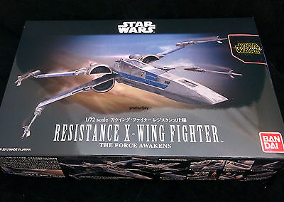 Bandai 1/72 Star Wars Model Kit Resistance X-Wing Starfighter The Force Awakens