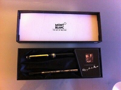 MONTBLANC Hommage Wolfgang Amadeus Mozart Black/Gold Rollerball Pen