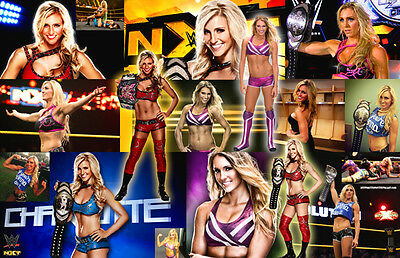 Charlotte Flair (WWE) Collage Poster