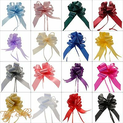 50mm Pull Bow Large Wedding Car Decorations Birthday Party Gift Floristry Pew