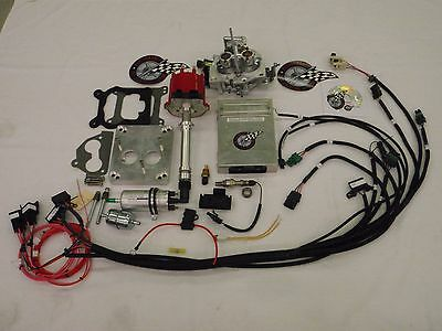 EFI Complete TBI Fuel Injection Conversion  -For Stock SBC 350 5.7L W/MSD COIL