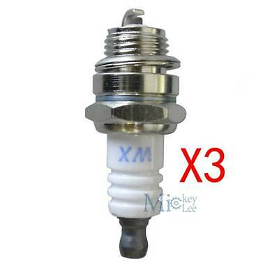 3X  L7T Spark Plug Kit For PARTNER 350 351 Various Lawn Mover Trimmer Chainsaw