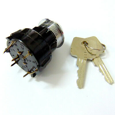 1set Electric 18.7mm 4 Position 7 Pins Metal Key Lock Switch AC 220V 1A s514