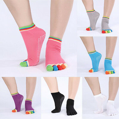 Full Toe Ankle Pilates Yoga Dance Martial HO Arts Non Slip AU Exercise Socks