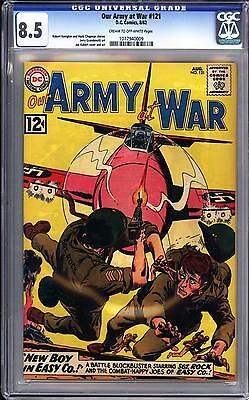 Our Army At War #121 Cgc 8.5   Classic Joe Kubert Cover!  Sgt Rock!