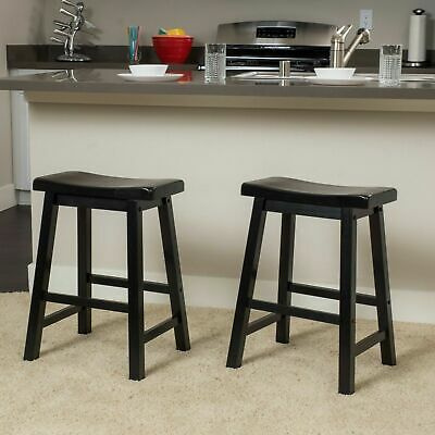Groovy Marcy Black Saddle Wood 24 Inch Counter Stool Set Of 2 Gamerscity Chair Design For Home Gamerscityorg