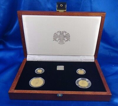 1994 Russia 10 25 50 100 Roubles Russian Gold Ballerinas 4 Coin Proof Set Box