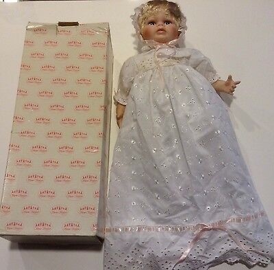 Show Stoppers Charming Christening Porcelain Doll in Original Box