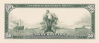 Proof Print by the BEP - Back of 1914 $50 Federal Reserve Note