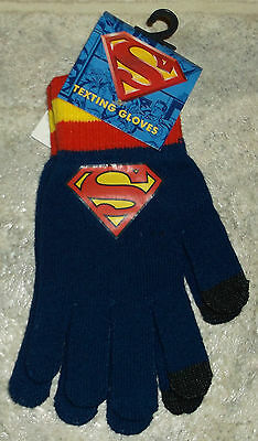 NWT Boys Superman Texting Gloves Size OSFA