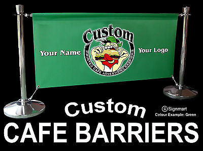 Cafe barrier restaurant Bar screen Market Stall including banner + FREE design