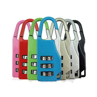 1 PC Mini 3 Digit Combination Security Safe Travel Luggage Code Lock Padlock