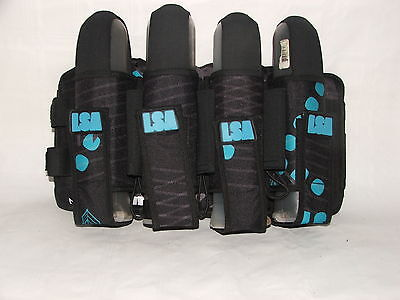 Laysick 444X 2016 Teal Stripes 4+3 Professional Paintball Harness or Pack