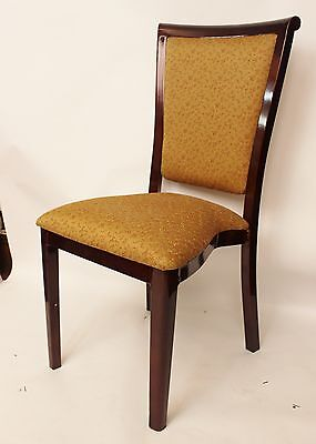 Mahogany Gold Banquet Chair Metal Frame Stacking Wedding Party Hotel Restaurant