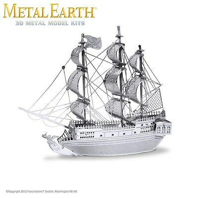 Fascinations Metal Earth Black Pearl Pirate Ship Laser Cut 3D Model