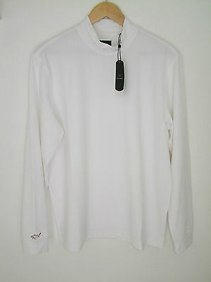 Greg Norman Long Sleeve Turtle Neck Top in White in 4 Sizes