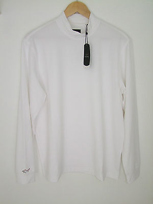 Greg Norman Long Sleeve Turtle Neck Top in White in XXL Size