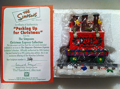 Simpsons Hamilton Sculpture Packing Up For Christmas Train Figure Very Rare New