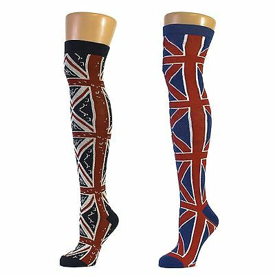 Union Jack Design Over the Knee Socks