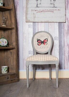 French Louis Side Chair Grey Fly Antique Dressing Style Bedroom Dining Stool