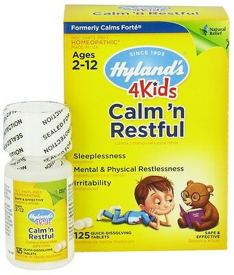 Hyland's 4 Kids Calm'n Restful, 125 Tablets, Homeopathic Sleep Aid for Kids