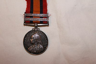 British QSA Queens South Africa Medal 4760 L/Cpl F Sharman Royal Scots Fusiliers