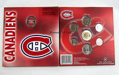 Canada 2008 Montreal Canadiens NHL Coin Set With Colourized Dollar Royal  Mint