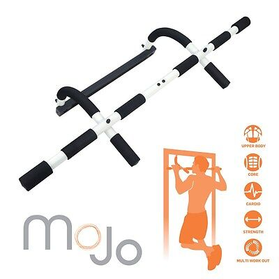 New MoJo Over Door Multi Gym Upper Body Workout Exercise  Pull Chin Up Iron Gym