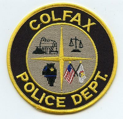 old vintage COLFAX ILLINOIS IL POLICE PATCH