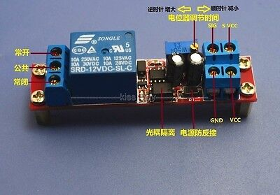 12V Signal Trigger Delay Relay Car Auto Start Delay Switch with optocoupler