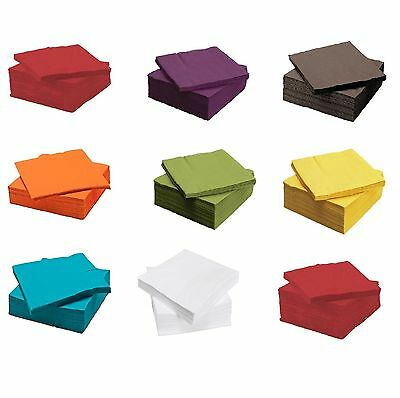 IKEA FANTASTISK 3 Ply Paper 50 / 100 Pack Birthday Party Napkins Serviettes