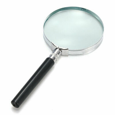 "Magnifying Glass 3.5"" 88mm Quality Metal Handheld Lens Magnifier Optical Reading"