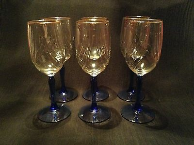 Libbey 40s 50s 60s glassware glass pottery glass - Lenox gold rimmed wine glasses ...