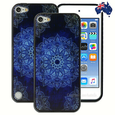 Dark Blue Mandala Hard Case for Apple iPod Touch 5 5th 6 6th Gen Cover