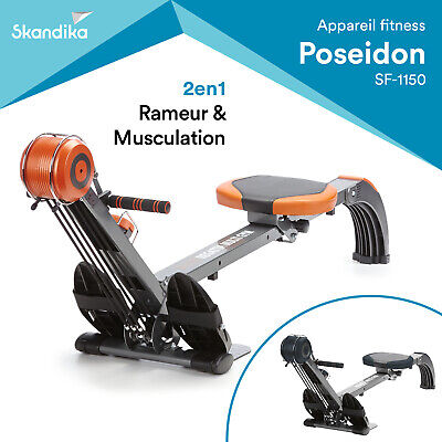 Skandika Regatta Multi Gym Poseidon Rameur Appartement Pliant Neuf