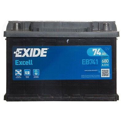 Type 082 Car Battery 680CCA Exide Excell 12V 74Ah 3 Years Wty Sealed OEM Quality