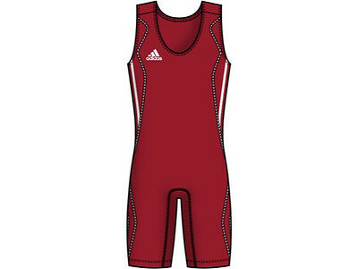Adidas W8 Womens Wrestling/weightlifting Suit Red Xxl Adults