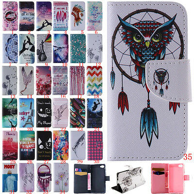 Magnetic Flip stand Slot Leather wallet + TPU Case Cover For Huawei P8 / Sony Z5