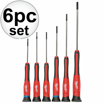 6pc Precision Screwdriver Set w/Case Milwaukee 48-22-2606 New