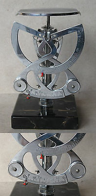 ANTIQUE LUXURIOUS POSTAL LETTER SCALES BALANCE COLUMBUS BILATERAL 250 g MARBLE