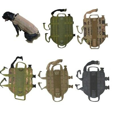 Dog K9 Vest Harness Tactical Police Hunting Hiking Training Military Army S-XL