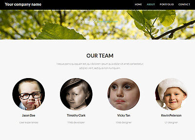 One page website, whole website, include one year free web hosting and domain