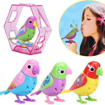 20 Songs Singing Bird Toy Sound Voice Control Activate Chirping Fun Xmas Gift