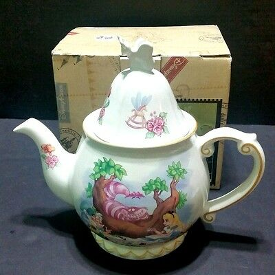 Disney Parks Alice In Wonderland Teapot Mad Hatter And Cheshire  Cat
