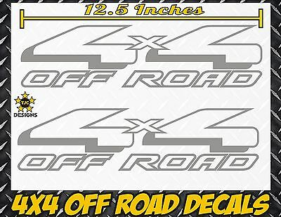 4x4 Off Road Truck Bed Decal Set METALLIC SILVER for Ford F-150 and Super Duty