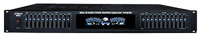 "PylePro 19"" Rack Mount Dual 10 Band Stereo Graphic Equalizer"