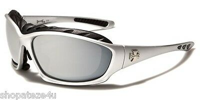 Choppers Men's Padded Goggles - Silver With Mirror Shatter Proof Lens
