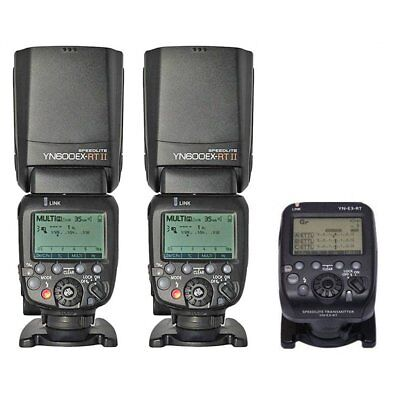 Yongnuo YN-E3-RT Transmitter + 2PCS YN600EX-RT II M TTL Speedlite For Canon UK