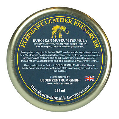 Elephant Leather wax feed restorer for leather car seats sofa settee jackets bag