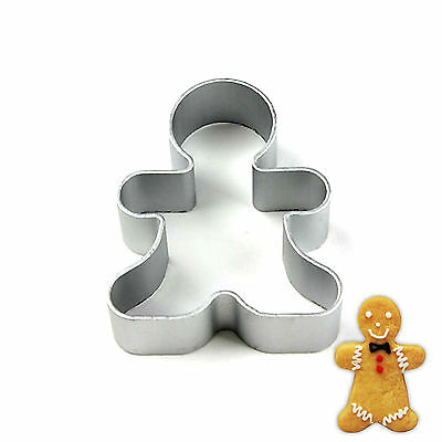 Stainless Steel Gingerbread Man Cookie Cutter Biscuit Fondant Cake Mold Mould